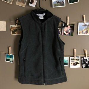 Gray Columbia fleece vest (women's small)